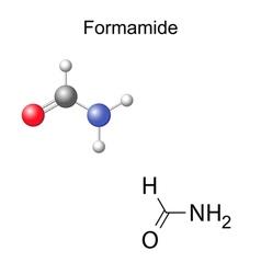 Formamide molecule vector image vector image