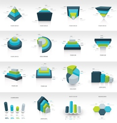 Geometry infographic template vector