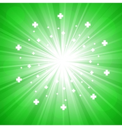 Green abstract explosion vector