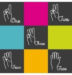 Hands language design vector