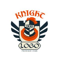 Knight logo premium club vintage badge or label vector