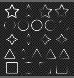 light geometry objects set for your design vector image