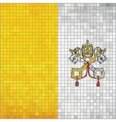 Mosaic flag of Vatican City vector image