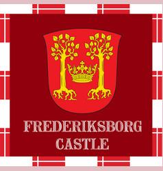 National ensigns of denmark - frederiksborg castle vector