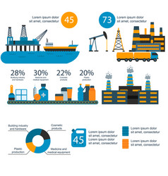 Oil gas industry manufacturing gas vector