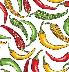 Pepper pattern background vector