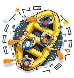 Rafting travel boat vector
