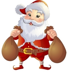 Santa Claus on a white background vector image