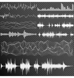 Sound waves set EPS 10 vector image vector image
