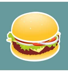 The Hamburger vector image vector image