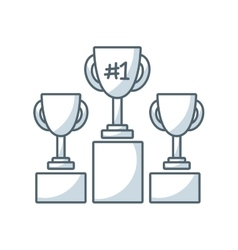trophy winner flat line icon vector image