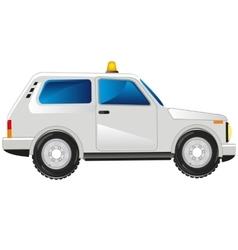 White passenger car vector
