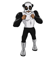 Wrestler Panda vector image
