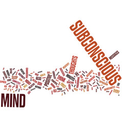 Your subconscious mind the key to your successful vector