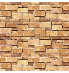 Brown brick wall seamless background vector image
