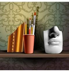 art shelf vector image