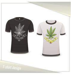 Medical marijuana tshirt ten vector