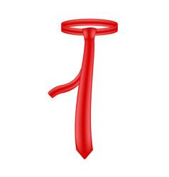 Necktie in red design vector