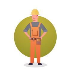 Builder man icon engeneer occupation contractor vector