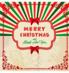 christmas day card vector image