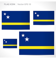 Curacao flag template vector