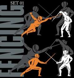 fencing set vector image