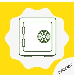 Money strongbox icon design vector