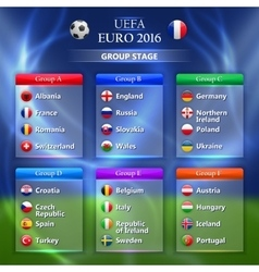 Euro 2016 group stage concept vector