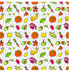 autumn seamless pattern fall season background vector image vector image