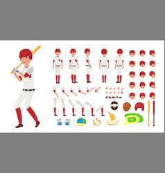 Baseball player animated character vector