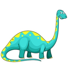 Blue dinosaur with long neck vector image vector image