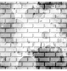 Brick wall graffiti vector