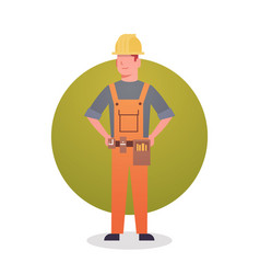 Builder man icon engeneer occupation contractor vector