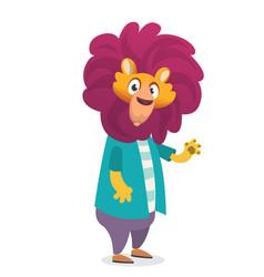 Cartoon funny lion vector