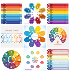 Collections infographics elements template 8 vector