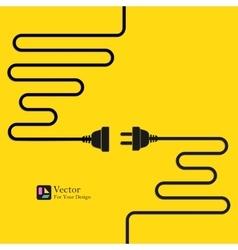 Concept connection disconnection electricity vector