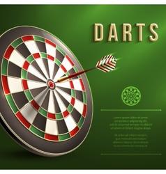 Darts board background vector