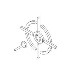 Darts icon isometric 3d style vector