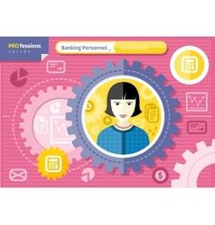 Female accountant profession concept vector