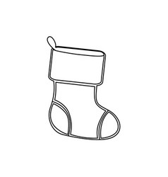 Figure christmas boots icon vector