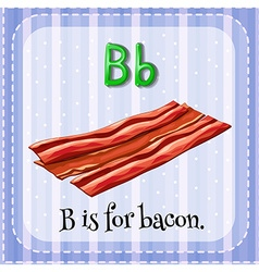 Flashcard letter b is for bacon vector