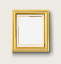 gold picture frame vector image
