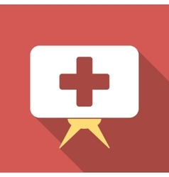 Health care presentation flat square icon with vector