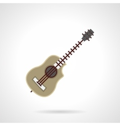 Kinds of guitar flat color icon vector