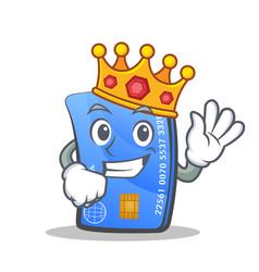 King credit card character cartoon vector