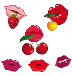 lips icon vector image vector image
