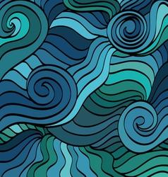 Marine wave patterns vector