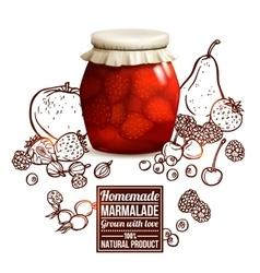 Marmalade jar concept vector