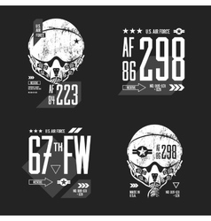 Modern American air force old grunge effect vector image vector image