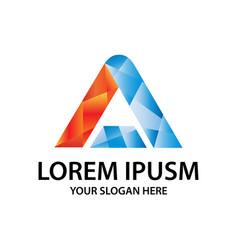 Modern initial a logo vector